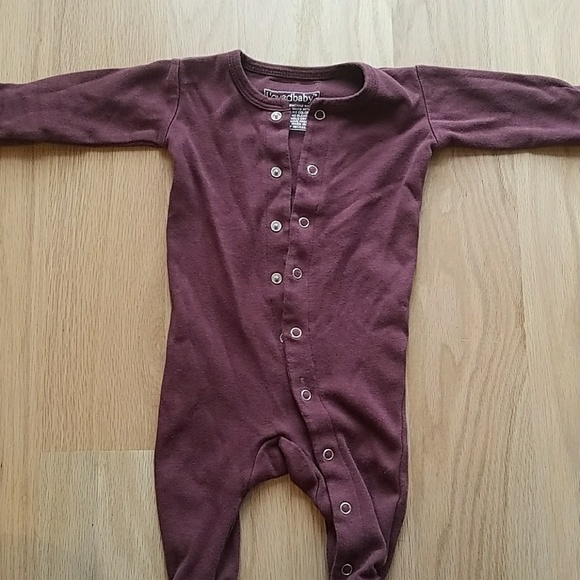e25cc7b233 Loved Baby Other - L oved Baby Organic Cotton Sleeper in Eggplant